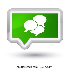 Comments icon green banner button