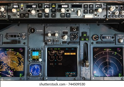 A commercial Aircraft Control Panel.
