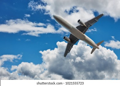 Commercial airplane jetliner, travel and business concept