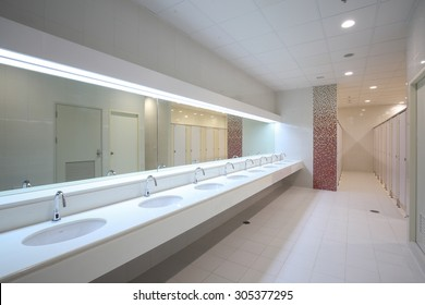 Commercial bathroom.