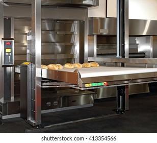 Commercial Bread Baking Oven With Conveyor Belt