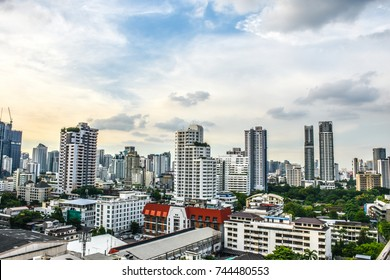 Commercial Building In Asoke, Bangkok, Thailand September 27, 2017