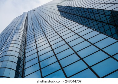 Commercial building closeup