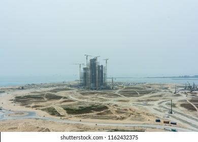 Commercial Building Under Construction in Eko Atlantic City, Lagos, Nigeria
