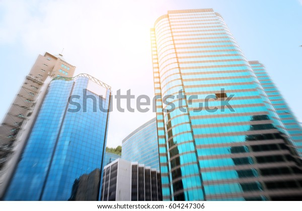 Commercial Buildings Office Buildings Beautiful Glass Stock Photo ...