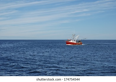 Commercial Fishing Boat in the Ocean