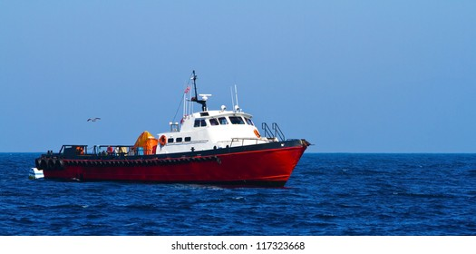 Commercial fishing boat off the coast of California, USA