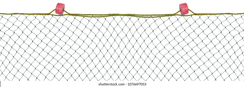 Commercial fishing nets isolated on white background,mesh pattern background