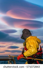 Commercial Fishing under Lenticular Clouds
