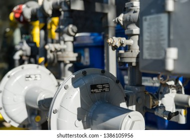 Commercial gas meters and pipes