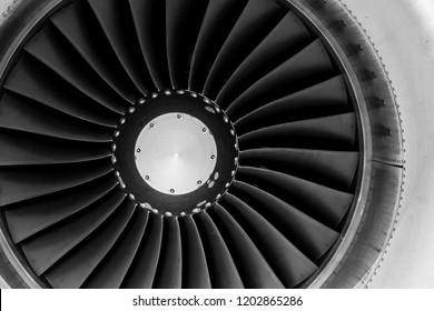 Commercial Jet Engine Up close