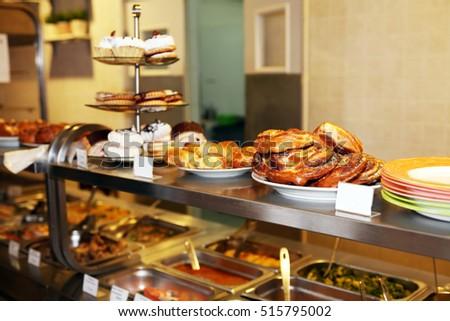 Commercial Kitchen Set Various Food Sale Stock Photo Edit Now