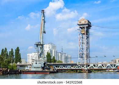 Commercial port in Kaliningrad, Russia.