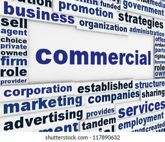 Commercial poster concepual design. Business activity message background