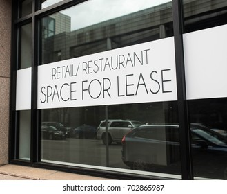 Commercial real estate retail/restaurant space for lease in busy city.