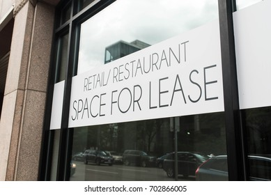 Commercial retail and restaurant space for lease in downtown Boston