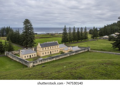 Commissariat Store and Church, Norfolk Island