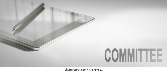 COMMITTEE Business Concept Digital Technology. Graphic Concept.