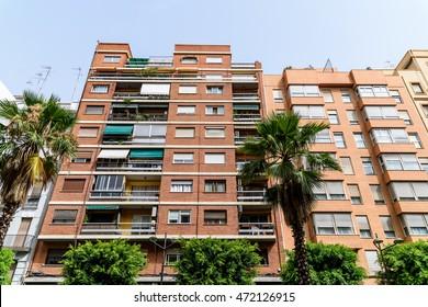Common Apartament Building Block Exterior Facade