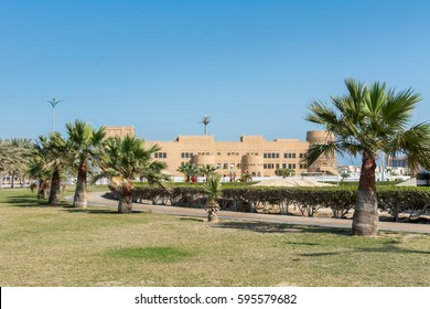 A common building at the corniche park in Dammam, Sudi Arabia