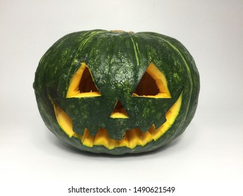 Common decorations for Halloween are pumpkin , Halloween pumpkin White background, Japanese pumpkin