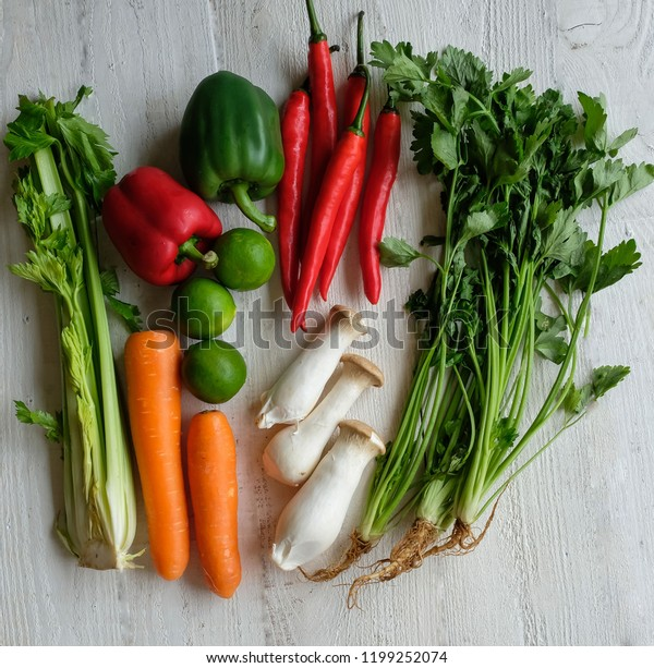 Common Fresh Farm Produce Wet Market Stock Photo (Edit Now