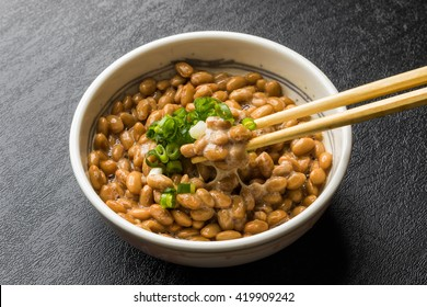 Common natto (the soybean which let you ferment) Japanese foods