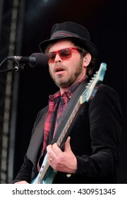 """Common People - May 28 2016: Former Supergrass singer Gareth Michael """"Gaz"""" Coombes performing live on the main stage at Common People Southampton Festival, Southampton, May 28, 2016 in Hampshire, UK"""