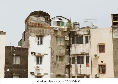 Common view of the non-touristic part of Saigon, Vietnam