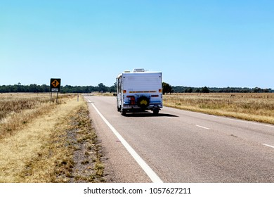 Common view on the Australian roads. Grey nomad: A retired person who travels independently within their own country, particularly in a caravan or motor home.