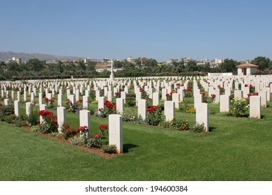 The Commonwealth War Graves Commission at Souda bay containing Allied Soldiers who fell in World War II