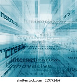 Communication business text image concept