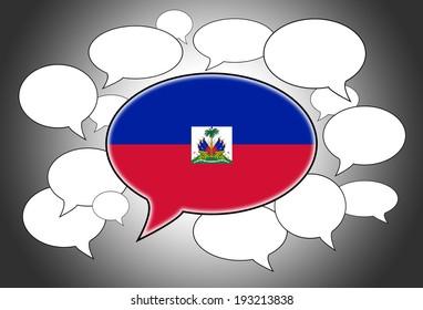 Communication concept - Speech cloud, the voice of Haiti