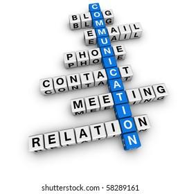 communication crossword (blue-white cubes crossword series)