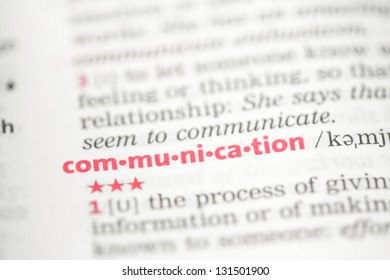 Communication definition in the dictionary