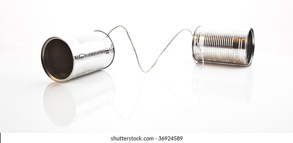 communication device using two tin cans and a string