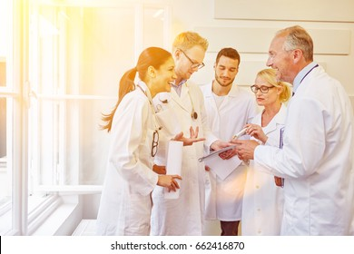 Communication during doctors meeting in hospital