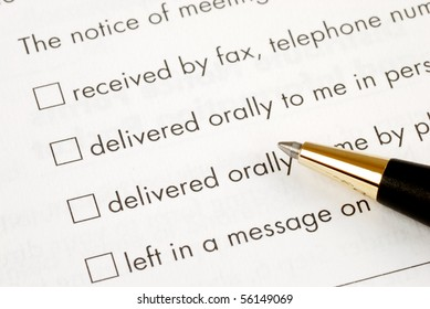 Communication options such as fax, phone, oral, etc.