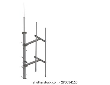 Communication pole is importance equipment for transmit the signal in isolated background.
