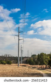Communication Poles going through Dinosaur Valley State Park