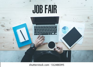 COMMUNICATION TECHNOLOGY BUSINESS AND JOB FAIR CONCEPT