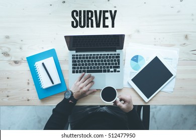 COMMUNICATION TECHNOLOGY BUSINESS AND SURVEY CONCEPT