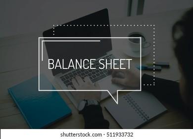 COMMUNICATION WORKING TECHNOLOGY BUSINESS BALANCE SHEET CONCEPT