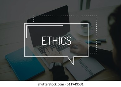 COMMUNICATION WORKING TECHNOLOGY BUSINESS ETHICS CONCEPT