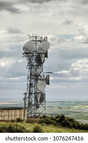 A communications tower on top of Steptoe Butte in eastern Washington state.