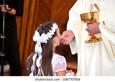 Communion and priest