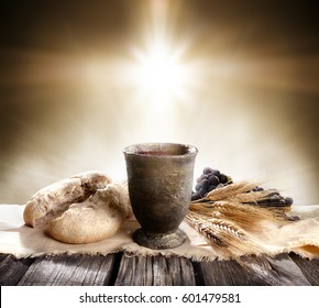 Communion - Unleavened Bread Chalice Of Wine
