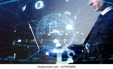 Communitaion network concept.