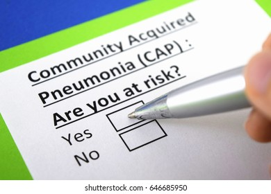 Community acquired pneumonia : are you at risk? yes or no