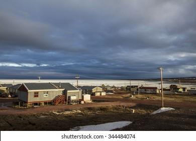 Community of Baker Lake in the Kivalliq region of Nunavut